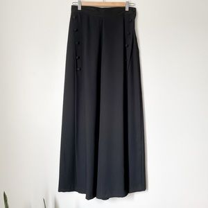 Black vintage culotte